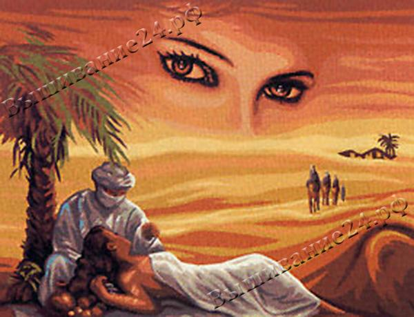 Схема вышивания крестом - Ангел пустынный