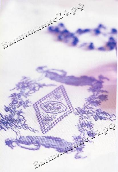 Схема вышивания крестом Узор Гжель
