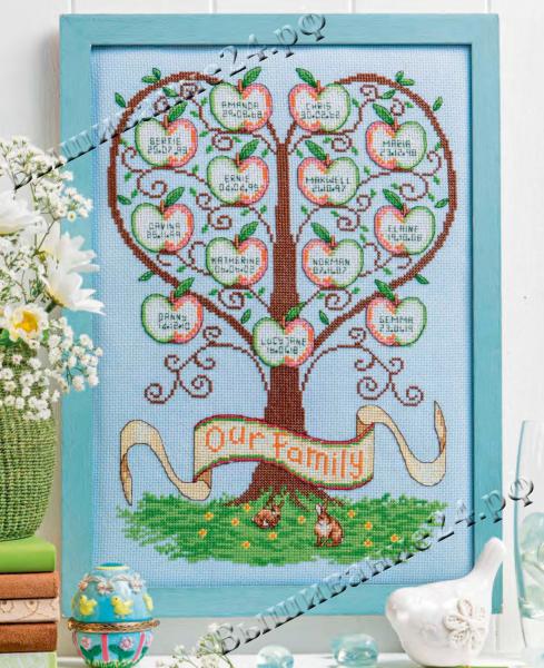 Схема вышивания крестом - Генеалогическое древо