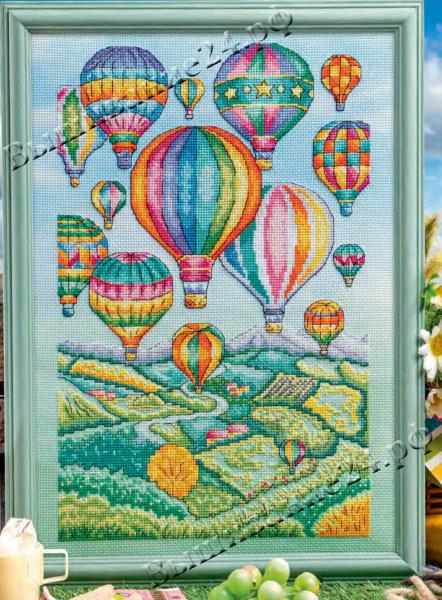 Схема вышивания крестом - Воздушные шары