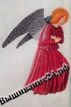 Схема вышивания крестом Ангел в красном