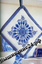 Схема вышивания крестом Прихватка, Гжель