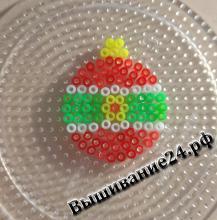Новогодний шарик из термомозаики