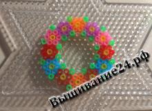 Цветочный венок из термомозаики