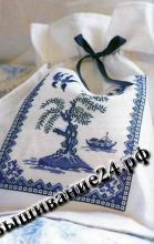 Схема вышивания крестом Мешочек, Гжель