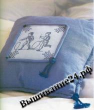 Схема вышивания крестом Подушка, Гжель