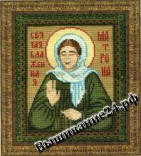 Схема вышивания крестом Икона Святая Блаженная Матрона