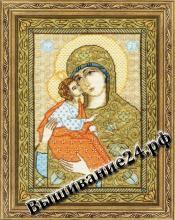 """Схема вышивания крестом Икона Божией Матери """"Акафистная-Хилендарская"""""""