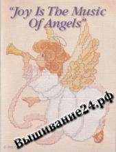 Схема вышивания крестом Ангел музыки