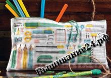 Схема вышивания крестом - Пенал для школьника