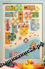Схема вышивания крестом - Пляж