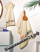 Схема вышивания крестом - Узор для полотенца Фламинго