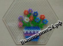 Цветы в вазе из термомозаики