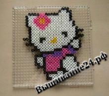 Hello Kitty из термомозаики