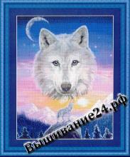 Схема вышивания крестом - Горный волк Mountain Wolf