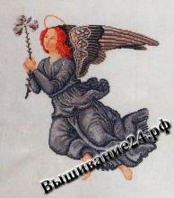 Схема вышивания крестом Ангел в чёрном