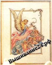 Схема вышивания крестом Ангелы