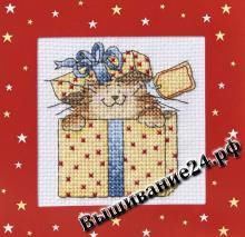 Схема вышивания крестом - Котёнок в коробке