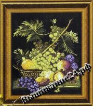 Схема вышивания крестом - Натюрморт с виноградом