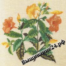 Схема вышивания крестом - Алламанда, цветы