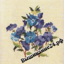 Схема вышивания крестом - Флокс, цветы