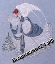 Схема вышивания крестом Ангел льда