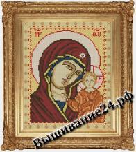 Схема вышивания крестом Икона Богоматерь Казанская