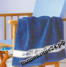 Схема вышивания крестом Узор для полотенца, Гжель